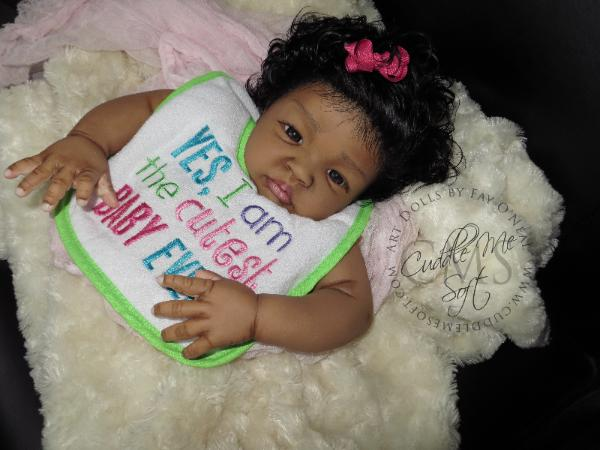 AA / Ethnic Reborn Baby Girl For Sale - Mya Nicole
