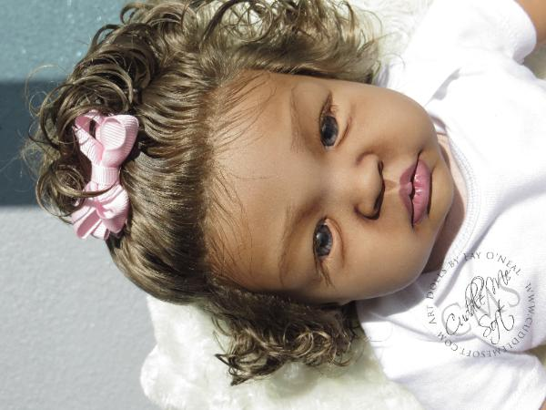 Biracial Reborn baby girl by Fay O'Neal