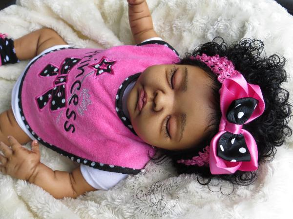 Reborn baby girl for sale by Fay O'Neal - www.cuddlemesoft.com