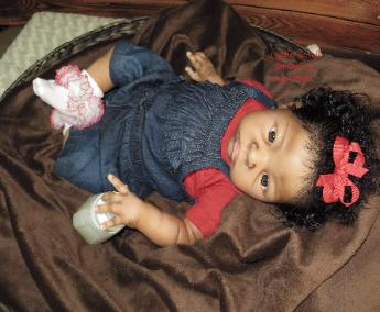 AA / Biracial Reborn Baby Girl for sale
