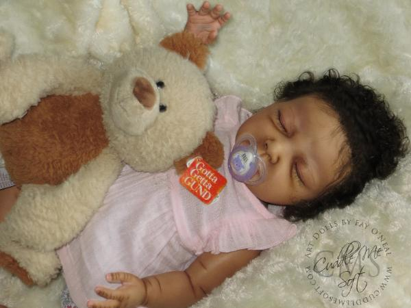 Biracial Reborn Baby Girl for Adoption