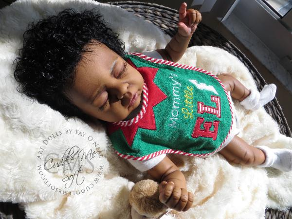 AA / Ethnic Reborn Baby Boy for sale Cozy by Linda Smith