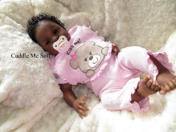 AA / Ethnic Reborn Baby Girl by Fay O'Neal