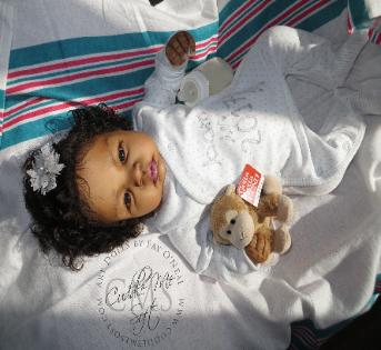 Adorable Reborn Baby Girl by Fay ONeal - www.cuddlemesoft.com