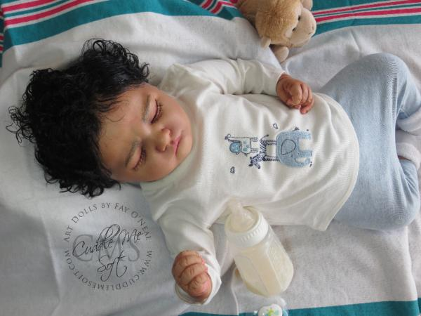 Reborn baby boy for adoption by Fay O'Neal