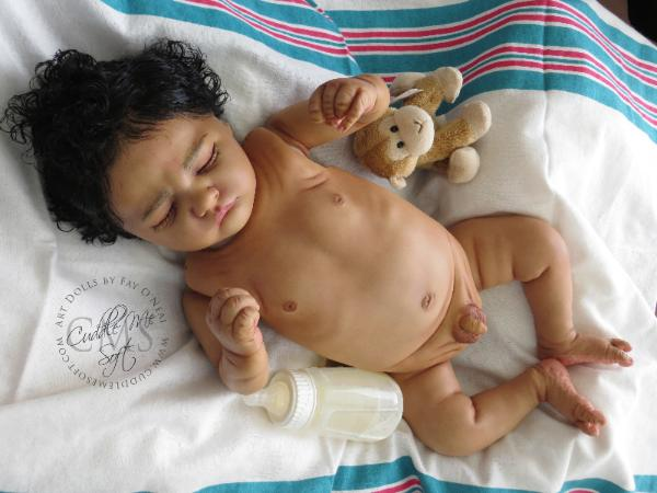 Realistic Biracial Reborn Baby Boy for sale  by Fay O'Neal