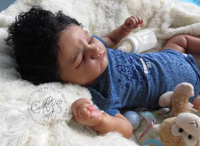 Biracial Reborn Baby Boy for sale by Fay O'Neal