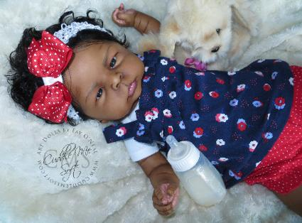 AA / Ethnic Reborn Baby Girl for sale by Fay O'Neal