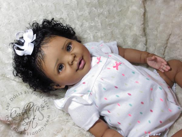 AA / Ethnic Reborn Baby Girl for sale - Candy by Donna RuBert