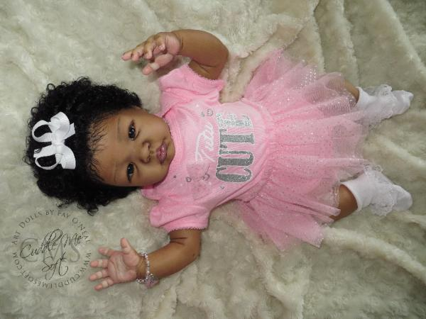 AA / Ethnic Reborn Baby Girl for sale
