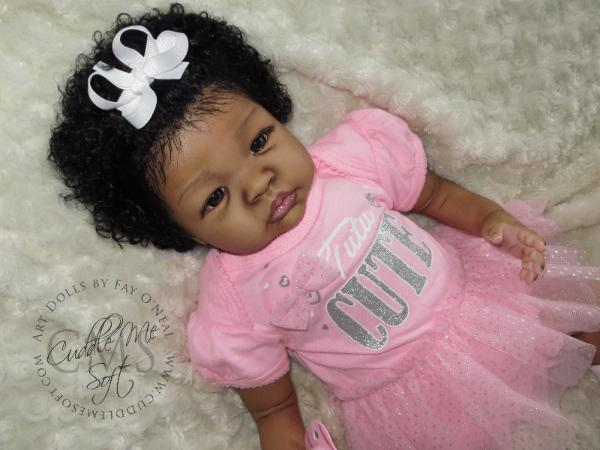AA / Ethnic Reborn Baby Girl for adoption
