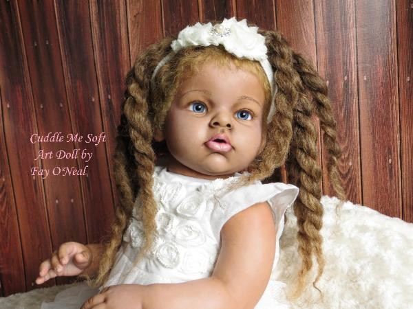 Biracial reborn toddler by Fay O'Neal