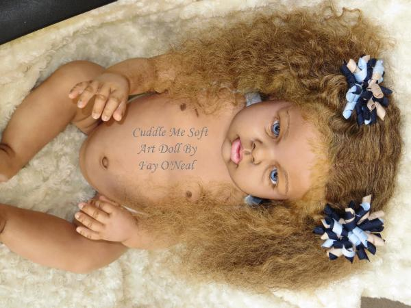Ethnic reborn toddler for sale by Fay O'Neal