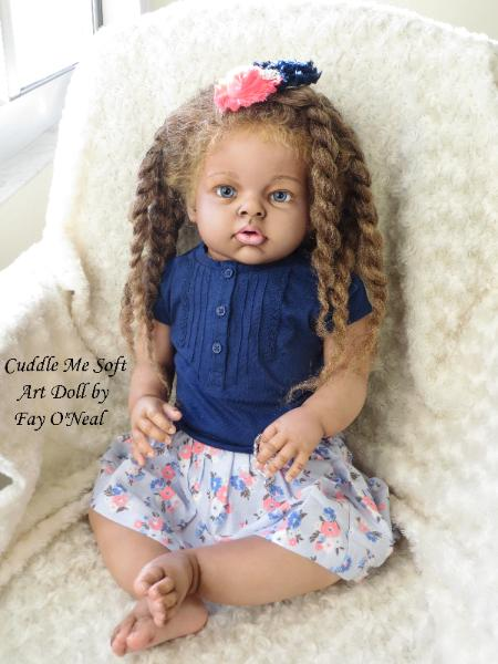Biracial Reborn Toddler for sale by Fay O'Neal