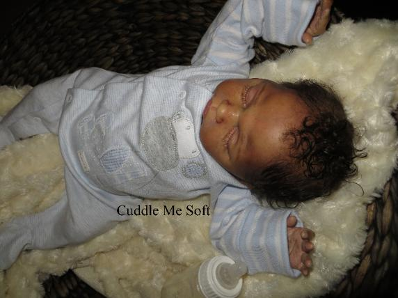 Biracial Reborn Baby Boy For Sale, OOAK Baby Reborn doll